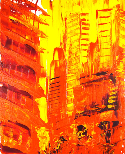 Downtown Fire - Ronn Greer 2010 - Prints available on FineArt America
