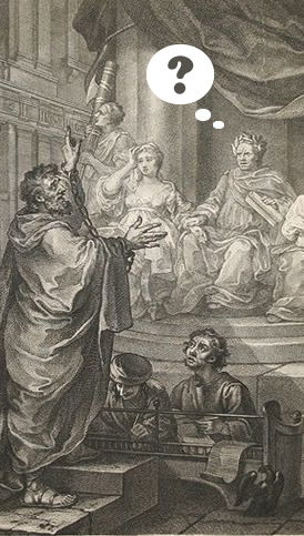 Extract from William Hogarth, Paul before Felix, 1752