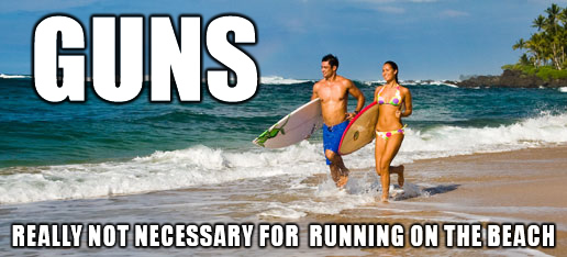 GUNS-running-on-beach