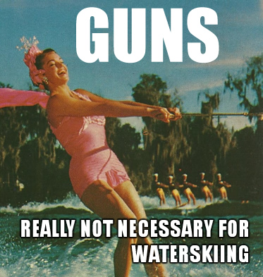 GUNS-waterskiing